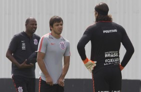Romero no treino do Corinthians