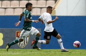 Adson na final do Paulista Sub-20, contra o Palmeiras