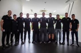 Treinadores de goleiros de todas as categorias do Corinthians, no dia do goleiro