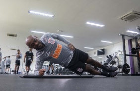 Vagner Love na academia do CT Joaquim Grava