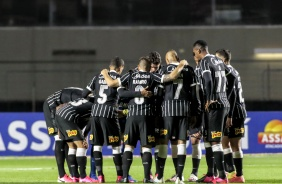 Elenco corinthiano no duelo contra o Red Bull Bragantino, pelas quartas de final do Paulistão