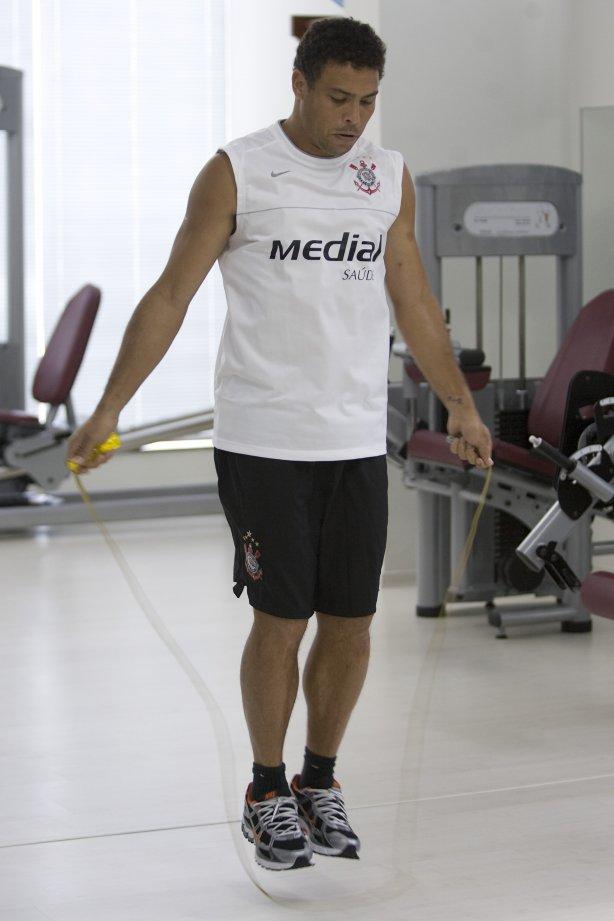 888805311448a Durante o treino realizado esta manhã em uma academia na cidade de Marilia.  O time joga hoje
