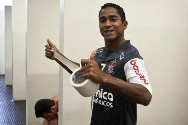 CORINTHIANS SP X BOTAFOGO RIBEIRAO PRETO - Jorge Henrique nos vestiários  antes da partida realizada esta tarde ... bec498d0dda95