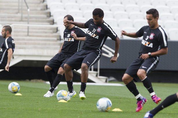 70a8e78a629f6 Durante o treino desta tarde na Arena Corinthians