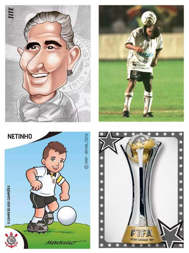 figurinhas do álbum do Corinthians