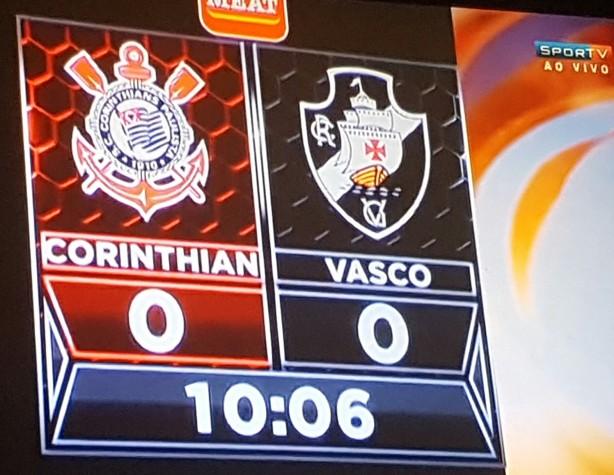 Resultado de imagem para Placar de estádio em Orlando troca nomes de Corinthians e Vasco