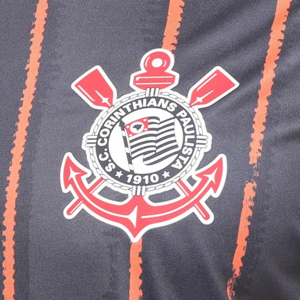 Nova camiseta preta e laranja do Corinthians entra em promoção por R ... 11ae21be9a92d