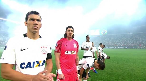 Balbuena foi o capitão do Corinthians diante da Universidad de Chile