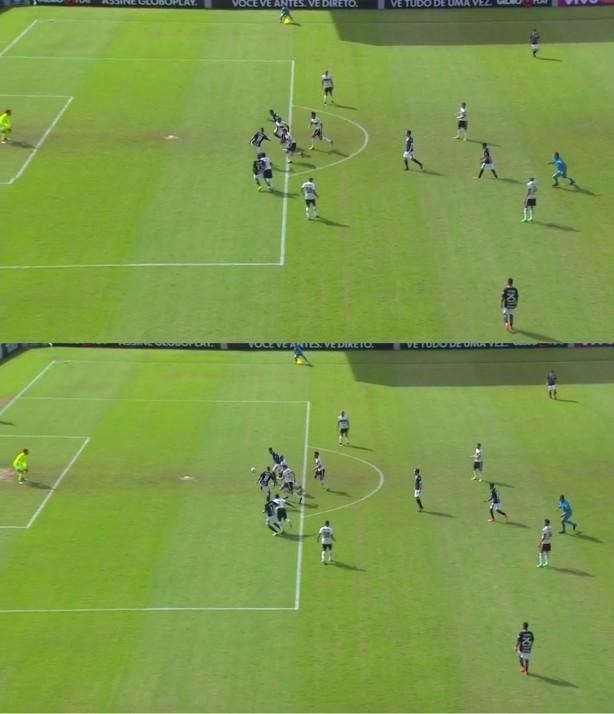 Jô estava atrás da linha da bola no momento do passe; gol foi mal anulado pela arbitragem