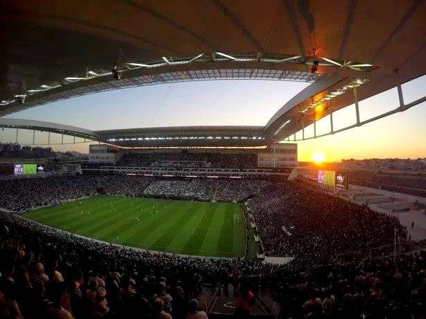 Arena Corinthians estava em construção em 2012 e foi inaugurada em 2014