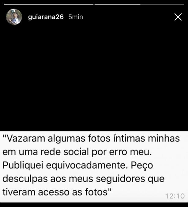 Jogador do Corinthians pede desculpas por publicar foto de ato sexual