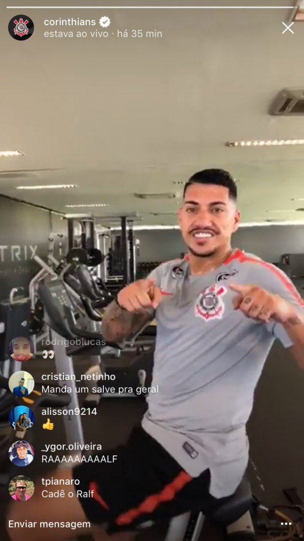 Ralf já treina no CT do Corinthians