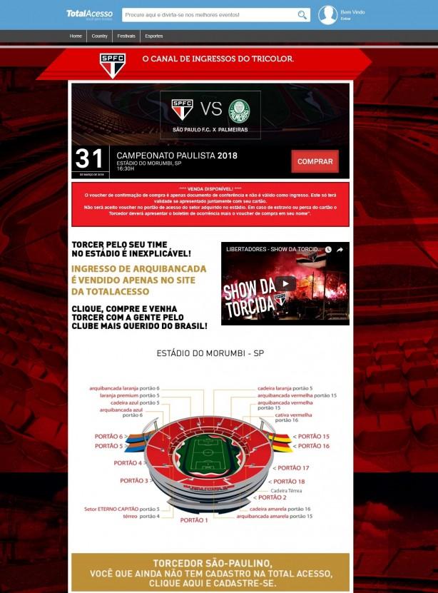 Site fornecedor de ingressos para o São Paulo inicia venda para a ... 878e259f87a1a