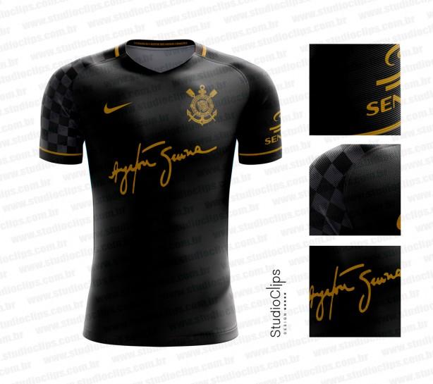 ba17ee87a2 Designer cria dois modelos de camisa do Corinthians com homenagem a ...