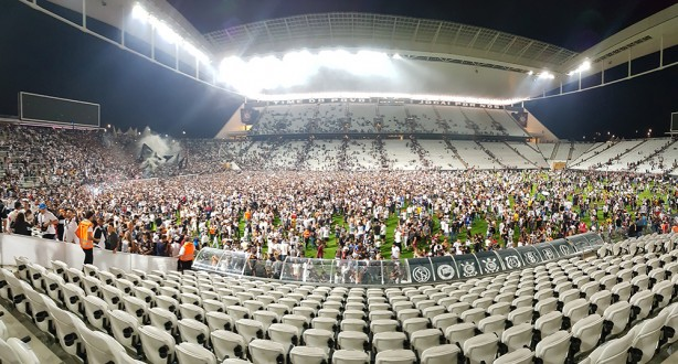 Final do treino na Arena Corinthians