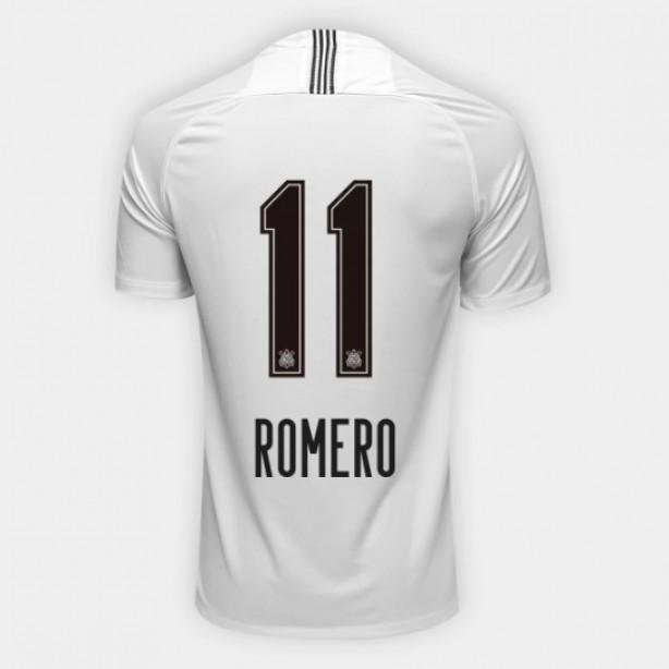 Camisa Corinthians I 18 19 Nº 11 Romero c27e35a1b5718