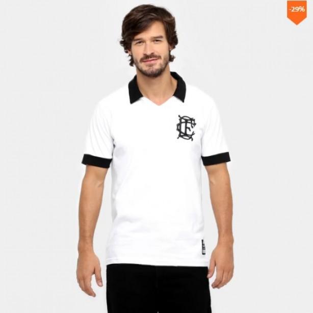 Camisa Polo Corinthian-Casuals Retrô Masculina b715362686c06