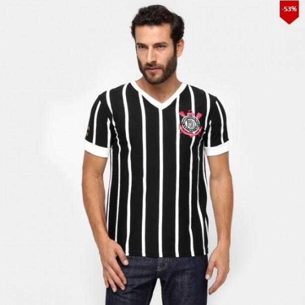 Camiseta Corinthians Réplica 1983 Masculina e7936d7ab9547