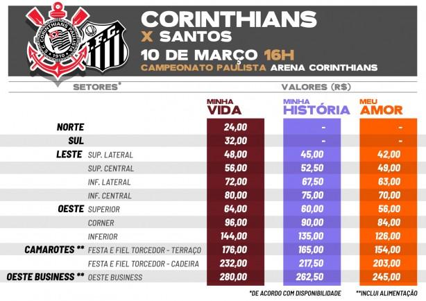 Corinthians inicia venda de ingressos no Fiel Torcedor para jogo ... db9e878c80bce