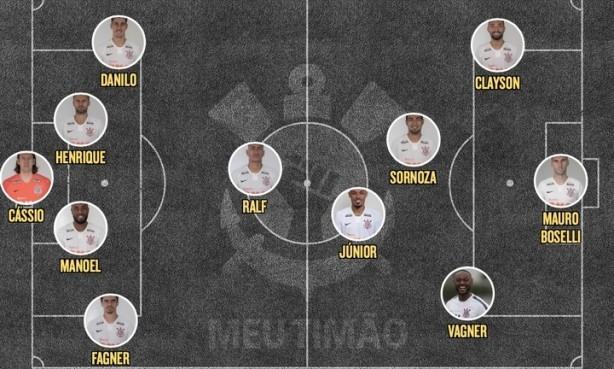 Corinthians veio a campo com uma altera